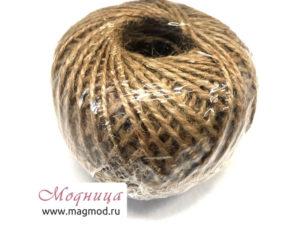 Шпагат джутовый суровый намотка100 м декор нитки и другие ткани модница