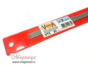 Спицы VISANTIA для вязания (5 шт) 2 мм модница дизайн екатеринбург