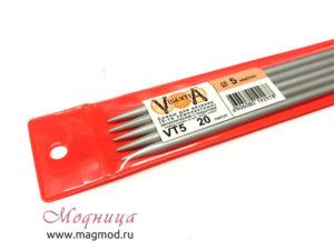 Спицы VISANTIA для вязания (5 шт) 5 мм дизайн вязание модница