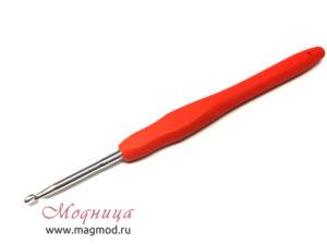 Крючок MAXWELL для вязания с резиновой ручкой 3 мм рукоделие модница екатеринбург