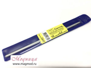Крючок для вязания металлический 4 мм рукоделие модница екатеринбург