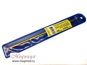 Крючок для вязания металлический 4 мм вязание рукоделие своими руками дизайн модница