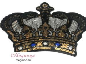 Термоаппликация Корона декор модница екатеринбург