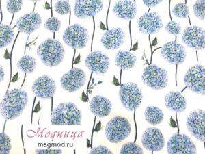 Джинс Коттон ткани цветочный принт мода стиль модница екатеринбург