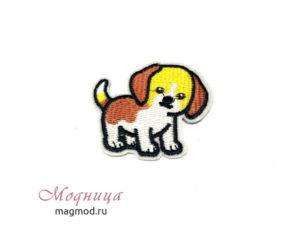 Термоаппликация Собачка декор для детей дизайн модница