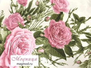 Шифон французский принт цветы ткани модница екатеринбург