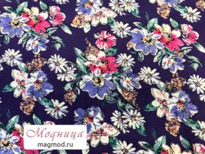 Ситец набивной цветы принт ткани екатеринбург магазин модница