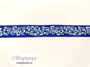 Лента репсовая с рисунком фурнитура декор модница