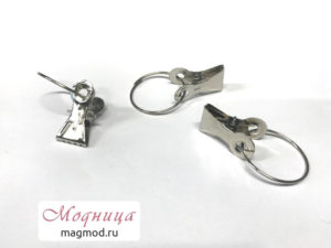 Зажим металлический с кольцом 33 мм модница екатеринбург