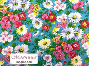 Бязь набивная ткани узор цветы опт розница модница екатеринбург