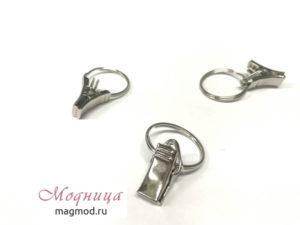 Зажим металлический с кольцом 23 мм фурнитура модница
