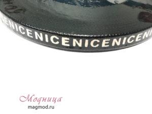 Тесьма тканая Рубчик с надписью 10 мм декор дизайн фурнитура модница екатеринбург