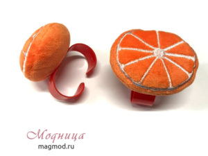 Игольница на руку Апельсин рукоделие модница екатеринбург