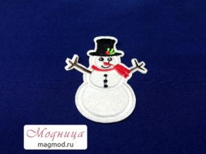 Термоаппликация Снеговик зима декор фурнитура магазин модница екатеринбург