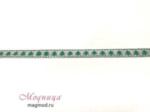 Лента металлизированная с рисунком декор фурнитура опт розница модница екатеринбург
