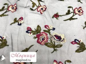 Сетка с вышивкой ткани магазин модница купить екатеринбург