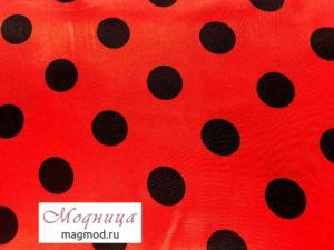 Атлас Горох 24 мм ткани дизайн мода стиль одежда магазин модница екатеринбург