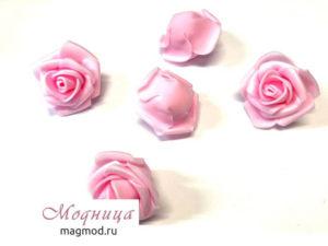 Роза фуамиран (бутон) 30-40 мм декор рукоделие модница екатеринбург