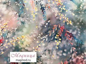 Шелк Штапель 150 см ткани дизайн одежда магазин модница екатеринбург