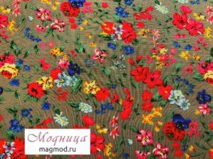 Штапель набивной 145 см ткани дизайн одежда магазин модница екатеринбург