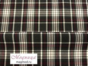 Костюмная Шотландка ткани дизайн одежда магазин модница екатеринбург