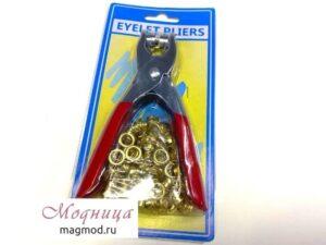 Пресс ручной для установки блочек 7 мм (с блочками) фурнитура модница екатеринбург